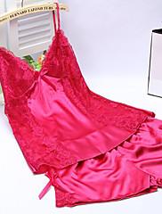 Ženy Ultra sexy Noční prádlo,Sexy Jednobarevné-Střední Hedvábí Žlutá Černá Bílá Růžová Fialová Modrá
