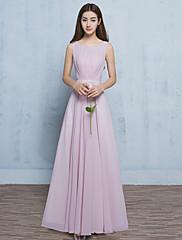 Formální večerní šaty - otevíratelná šálka s dlouhým šálkem s délkou šifonu s křídlem / stuhou