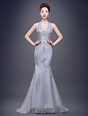 Formální večerní šaty - otevřené zadní trumpet / mořská panna opotřebení / kartáč vlak tylu s krajkou