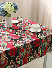 方形 パターン柄 テーブルクロス , コットンブレンド 材料 ホテルのダイニングテーブル / 表Dceoration