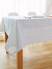 方形 ギンガム テーブルクロス , リネン 材料 ホテルのダイニングテーブル / 表Dceoration