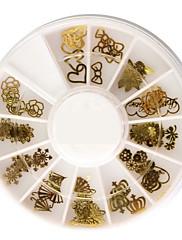50個 異なる形 メタル ネイルアート 装飾品