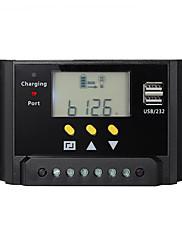 30a PWM regulátor solární regulátor nabíjení baterie dual usb 12v 24v lcd