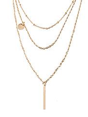 Dámské Obojkové náhrdelníky Náhrdelníky s přívěšky Šperky Geometric Shape Pozlacené SlitinaZákladní design Jedinečný design Tetování
