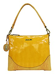The new Kate&Co. mirror PVC single shoulder / diagonal back bag TS-00142 yellow