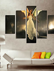 Kunst Print Abstrakt Portræt Klassisk,Fem Paneler Horisontal Print Vægdekor For Hjem Dekoration