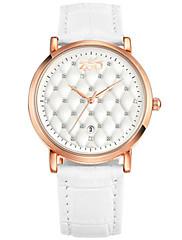 Mulheres Relógio de Moda Quartzo Impermeável PU Banda Preta Branco Vermelho Marrom