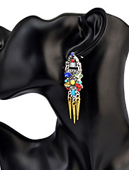 Dámské Visací náušnice TyrkysováZákladní design Jedinečný design Visací Geometrický přátelství Punkový styl Elegantní Nastavitelná