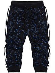 メンズ ビンテージ シンプル ミッドライズ ストレート 非弾性 ショーツ パンツ ソリッド カモフラージュ
