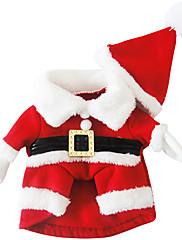 Pes Kabáty Oblečení pro psy Vánoce Vánoce Červená