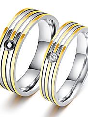 Pánské Široké prsteny Kubický zirkon láska luxusní šperky Vánoční Klasický Módní Titanová ocel Circle Shape Šperky ProPárty Halloween