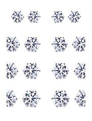 Dámské Peckové náušnice Kubický zirkon příroda Sexy Módní Ručně vyrobeno Gothic Zirkon Slitina Geometric Shape ProPárty Podium Škola