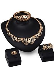Dame Halskædevedhæng Smykker Mode Personaliseret Guldbelagt Legering Geometrisk form Smykker Til Fest Forlovelse Bryllupsgaver