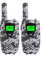 Walkie talkies de camo durável para crianças 22 canais de carregamento de micro usb 3 milhas (até 5 milhas) frs / gmrs mini walkie talkies