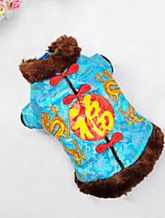Pes Kabáty Oblečení pro psy Silvestr Výšivka Žlutá Červená Modrá
