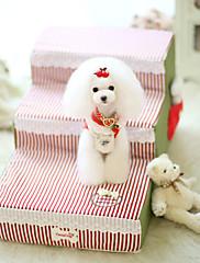 ネコ 犬 ベッド ペット用 マット/パッド 縞柄 イエロー レッド ブルー