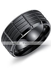 Herre Båndringe Kvadratisk Zirconium Enkelt design Mode Vintage Hip-hop Gotisk Klassisk Titanium Stål Cirkelformet Smykker TilFest
