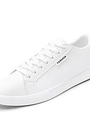 Pánské Obuv Koženka Jaro Podzim Potápěčské boty Tenisky Pro Ležérní Bílá Černá