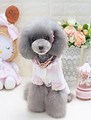 Cachorro Camisola com Capuz Roupas para Cães Casual Desenhos Animados Azul Rosa claro