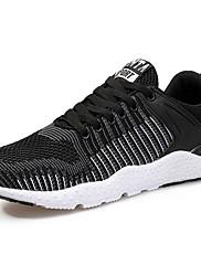 メンズ 靴 チュール 春 秋 ライト付きソール アスレチック・シューズ ランニング 編み上げ 用途 スポーツ ブラック ダークブルー グレー