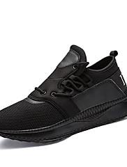 Masculino sapatos Tule Outono Inverno Conforto Solados com Luzes Tênis Cadarço Para Atlético Casual Preto Cinzento Vermelho Branco/Preto