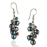 Drop Earrings Women's Sterling Silver Earring Pearl