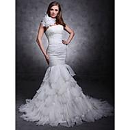 Lanting Bride® Ajustado/Acampanado Tallas pequeñas / Tallas Grandes Vestido de Boda - Clásico y Atemporal / Elegante y Lujoso CorteSobre