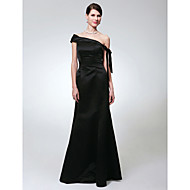 TS Couture Formal Evening Military Ball Dress - Open Back Trumpet / Mermaid One Shoulder Floor-length Satin with Bow(s)