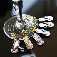 flip flop vin glas charms (sæt med 6)