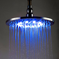 10 inch Brass Shower Head with Color Chaning LED Light