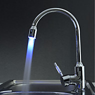 Kitchen Faucet Contemporary LED Brass Chrome