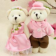 bedårande björn bruden och brudgummen nyckelring (sats om 6 par)