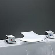 Two Handles Chrome Widespread Waterfall Bathtub Faucet (0698 -Y3-8013)