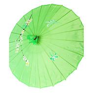 Selyem Ventilátorok és napernyők Darab / Set Napernyő Kerti témák Ázsiai téma Zöld 48 cm magas × 82 cm átmérőjű 48 cm magas
