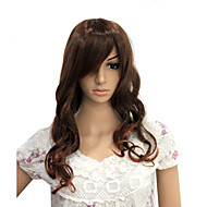Capless Long High Temperature Wire Brown Curly Costume Party Wig