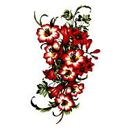 5 Pcs Flower Waterproof Temporary Tattoo(17.5cm*10cm)