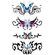 Tattoo Stickers Animal Series Pattern Waterproof Women Girl Teen Flash Tattoo Temporary Tattoos