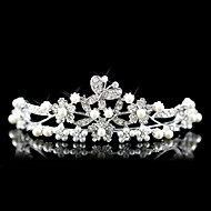 Women's Alloy / Imitation Pearl Headpiece-Wedding / Special Occasion Tiaras Clear Round