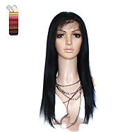 Full Lace Long Yaki Straight 100% India Reme Hair Wig Multiple Colors To Choose
