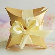 Perle Kissen zugunsten Box mit Schleife (Set mit 6 Paare)