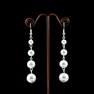 Imitation Pearls With Alloy Plating Bridal Earrings