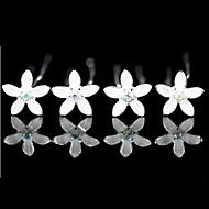 화려한 모조 다이아몬드 4 개 더 많은 색상을 사용할 수와 함께 신부 핀 / 꽃 투구