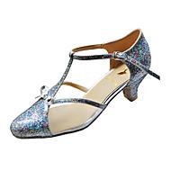 Customize Performance Dance Shoes Paillette/ Velvet Upper Modern Shoes for Women