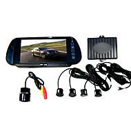 Bakhjælpesæt - 7 Tommer TFT LCD Bakskærm - Kamera og Parkeringssensor