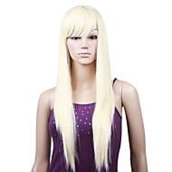 "Capless Silk Straight 22"" 100% Imported heat-resistant Fiber Hair Wig"