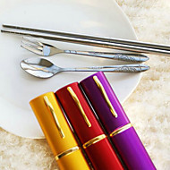 3 In 1 Travel Cutlery Set Favor (More Colors)