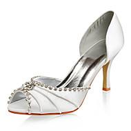 peep toe in raso superiore con scarpe da sposa strass colori più disponibile