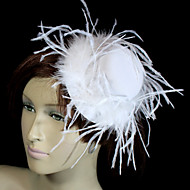 Women's Velvet/Feather Headpiece - Wedding/Special Occasion Hats