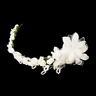 Women's Satin/Imitation Pearl/Paper Headpiece - Wedding/Special Occasion Headbands/Flowers