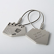 personliga nyckelringar - Royal Flush (sats om 4)